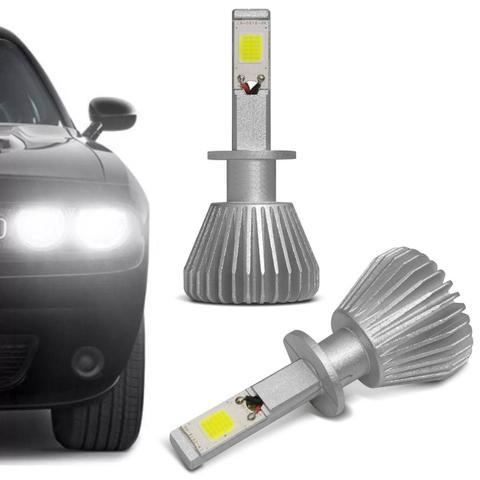 Imagem de Par Lampadas Super LED 2D Headlight H1 6000K 12V 6400LM Efeito Xênon Carro Moto Original Shocklight