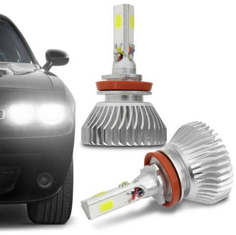 Imagem de Par Lâmpadas Super LED 3D Headlight H8 6000K 12V e 24V 50W 4500LM Efeito Xênon Carro Moto e Caminhão