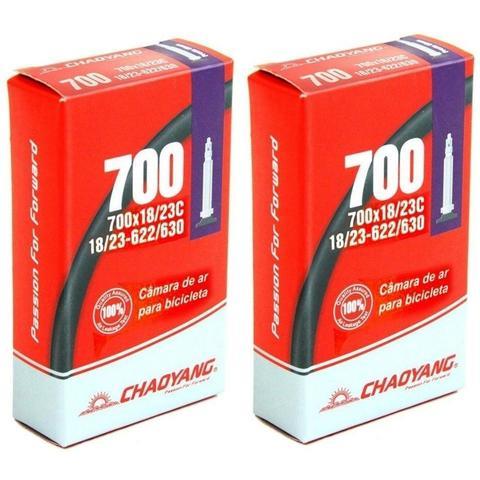 Imagem de Par Pneus Speed Pirelli Tornado Alfa 700X25 + Par Câmaras Chaoyang + Par Fita Anti Furo
