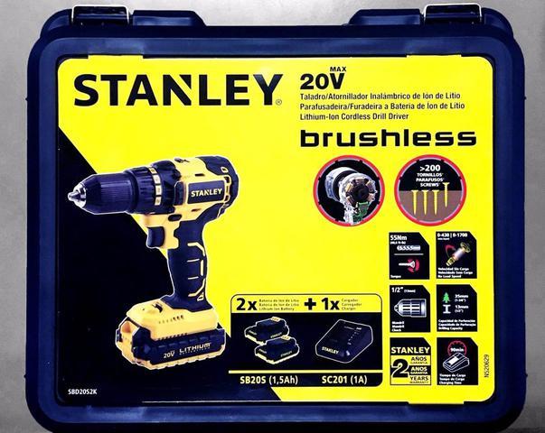 Imagem de Parafusadeira Furadeira Sbd20s2k-br Brushless 20v Stanley