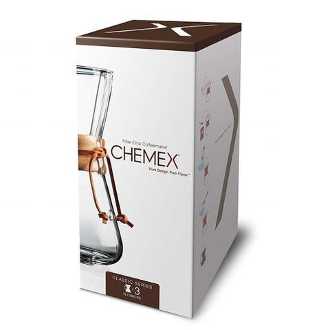 Imagem de Passador de Café CHEMEX Alça de Madeira 400ml  3 Xícaras - CH-CM1C