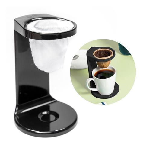 Imagem de Passador De Café Individual C/ Coador My Coffee Preto Ou