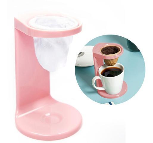 Imagem de Passador De Café Individual C/ Coador My Coffee Rosa Ou