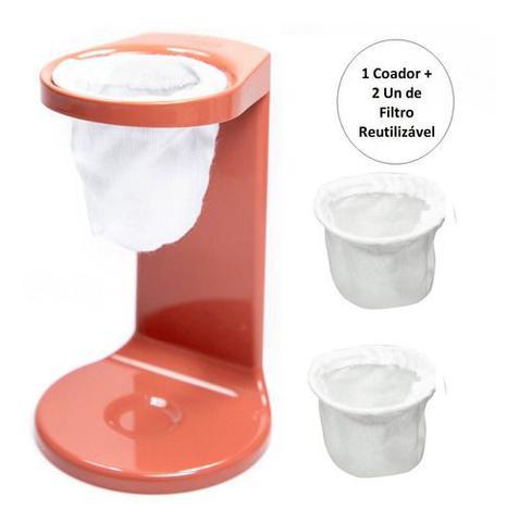 Imagem de Passador De Café Individual Mini Coador De Café C/2 Filtros