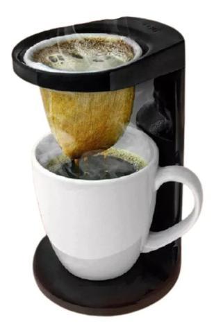 Imagem de Passador de cafe individual my coffee com coador preto fechado ou