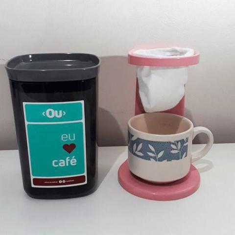 Imagem de Passador De Café Individual Pote Hermético C/2 Filtros