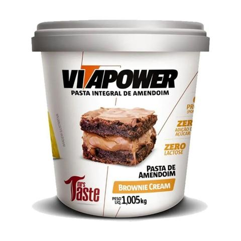 Imagem de Pasta de Amendoim Integral Vitapower Brownie Cream 1,005 Kg