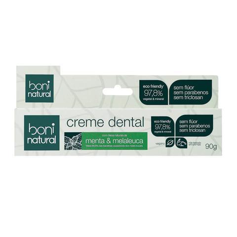 Imagem de Pasta Dental Natural Menta e Melaleuca sem Flúor 90g  Boni Natural
