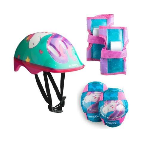 Imagem de Patinete 3 Rodas com Led e Kit de Proteção Unicornio - Atrio