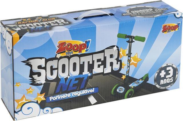 Imagem de Patinete 3 Rodas Scooter net Mini Racing Club Dobrável Azul ZP00104 Zoop Toys