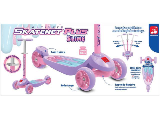 Imagem de Patinete 3 Rodas Skatenet Plus Slime