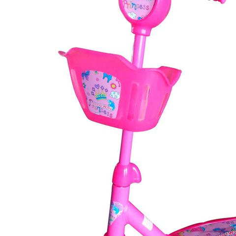 Imagem de Patinete Infantil 3 Rodas com Cesta Rosa BW10R Importway