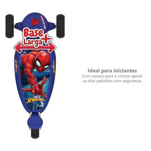 Imagem de Patinete Infantil 3 Rodas Homem Aranha Marvel Skatenet Bandeirante