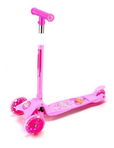 Imagem de Patinete Infantil 3 Rodas Rosa com Kit de Proteção até 50 Kg