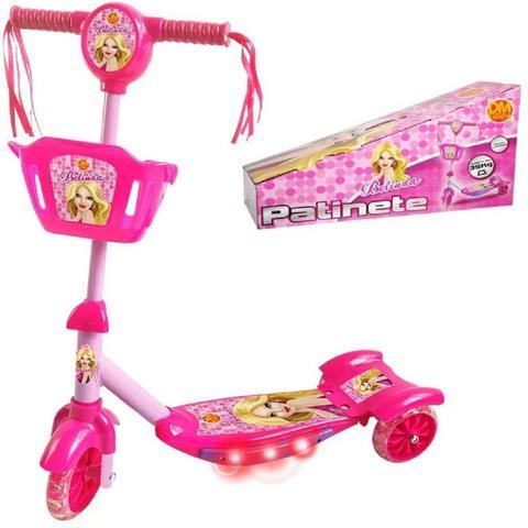 Imagem de Patinete Infantil Com Cesta Rosa DMR5027 - Dm Toys