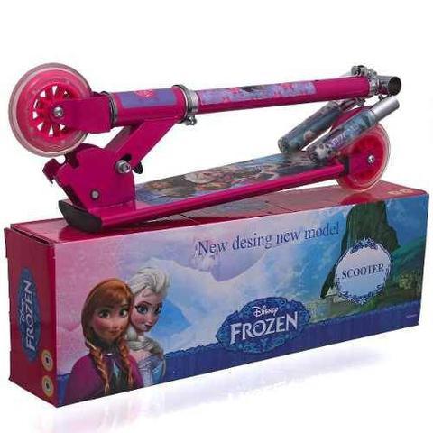 Imagem de Patinete Infantil Menina 3 Rodas Gel Freio Frozen