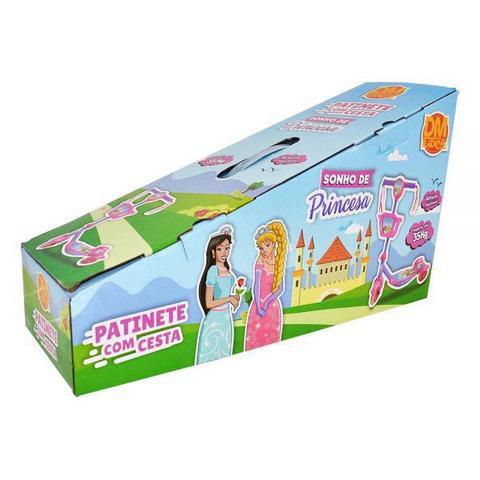 Imagem de Patinete Infantil Radical Meninas 3 Rodas Musical Divertido Sonho de Princesa