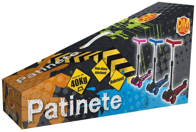 Imagem de Patinete Infantil Radical Meninos 3 Rodas Power Dobrável