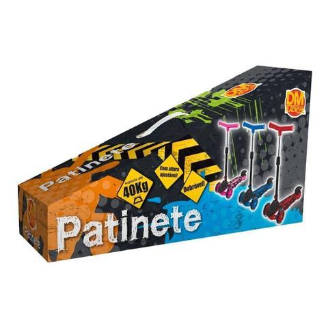 Imagem de Patinete Menina Infantil 3 Rodas Power Dobrável Rosa 66,5 Cm