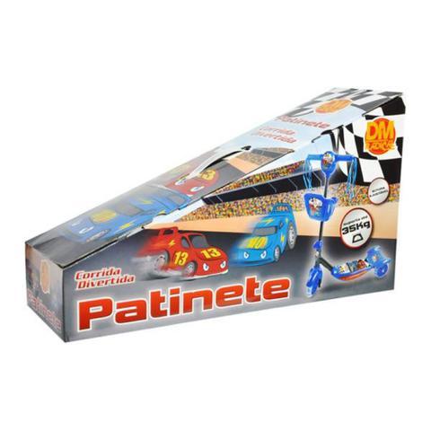 Imagem de Patinete Menino Infantil Radical 3 Rodas Corrida Ajustável Até 35kg Luz/ Som  Rodas em Gel Masculino