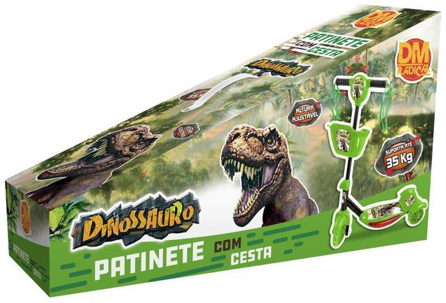 Imagem de Patinete Meninos Dinossauro Infantil 3 Rodas Musical Com Luz