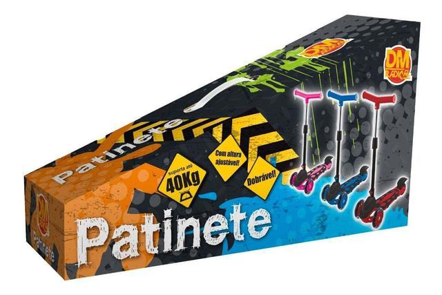 Imagem de Patinete Power Infantil Juvenil Altura Ajustável Suporta Até 40 Kg