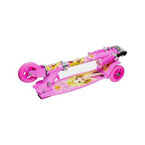 Imagem de Patinete Radical 03 Rodas Meninos Rosa Dobrável Resistente DM Toys