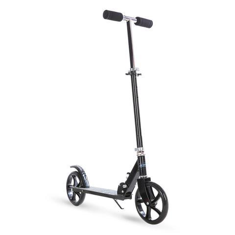 Imagem de Patinete scooter grande juvenil/adulto 2 rodas 200mm - preto