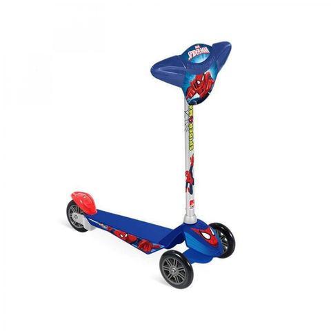 Imagem de Patinete Skatenet 3 Rodas Homem Aranha Infantil Brinquedos Bandeirante Azul