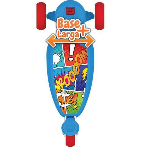Imagem de Patinete Skatenet Infantil Kid Azul 3 Rodas Bandeirante 1500