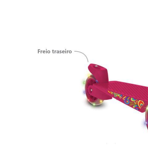 Imagem de Patinete Skatenet Max Rosa Rodas com Led - Bandeirante
