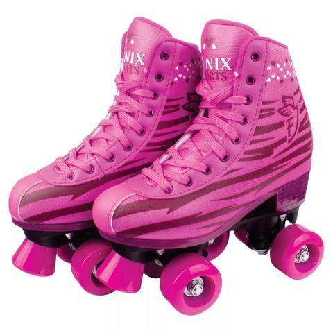 Imagem de Patins 4 Rodas Clássico Rosa Menina 38 ao 39 Roller Skate