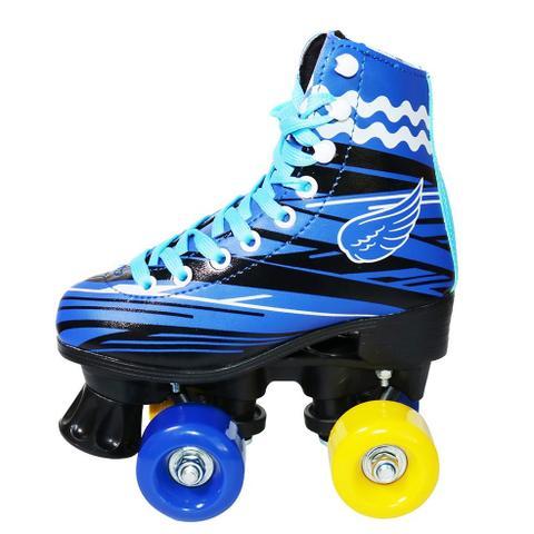 Imagem de Patins 4 Rodas Roller Clássico Tradicional Bw-020 Azul 36/37 - Azul - 36/37