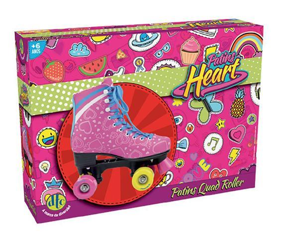 Imagem de Patins Heart Quad 4 Rodas Nº 34 Rosa - DTC