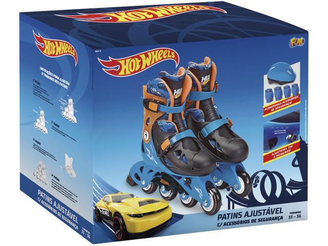 Imagem de Patins In Line Infantil Fun Hot Wheels
