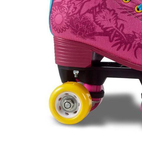 Imagem de Patins Infantil Tradicional Quad 4 Rodas Fila Juliet Rosa