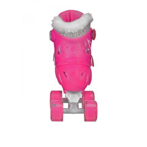 Imagem de Patins Quad 4 Rodas Roller Derby Princess Ajustável Rosa