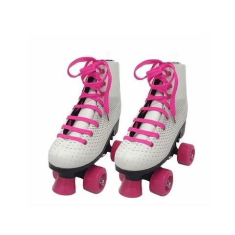 Imagem de Patins roller 4 rodas classico tradicional infantil e adulto menina retro tamanho 34 35 36 37 38 39