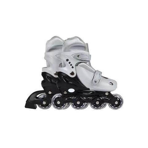 Imagem de Patins Roller Infantil Ajustável 34 Ao 37 Cinza 40600124 Mor