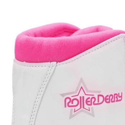 Imagem de Patins Roller Star 350 Roller Derby Branco Roda Rosa