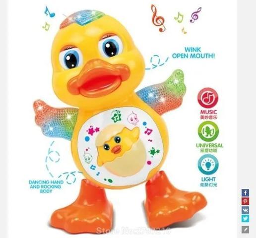 Imagem de Pato Dançante Brinquedo Musical Dança Anda Mexe Luz E Som