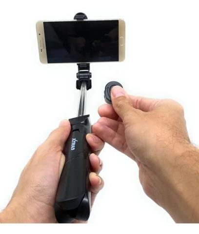 Imagem de Pau De Selfie E Tripé Com Controle Bluetooth Sem Fio IOS e Android