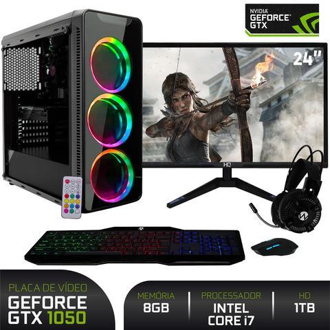 Imagem de PC Gamer com Monitor LED 24