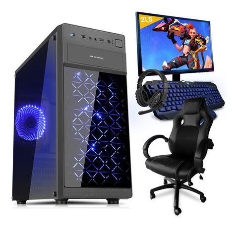 Imagem de Pc Gamer Completo Smart Pc SMT81292 Intel i5 8GB (GeForce GTX 1650 4GB) 1TB + Cadeira Gamer