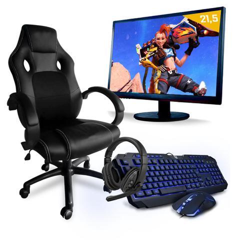 Imagem de Pc Gamer CompSmart Pc SMT81263 Intel i5 8GB (GeForce GTX 1650 4GB) 1TB + Cadeira Gamer