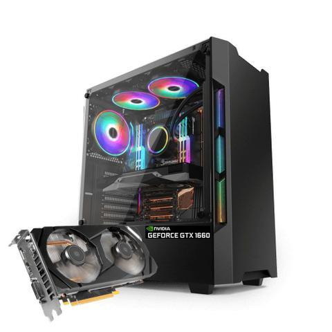 Desktop Neologic Dark Shadow Nli81272 I5-9400f 2.90ghz 8gb 1tb Geforce Gtx 1660 Windows 10 Pro Sem Monitor