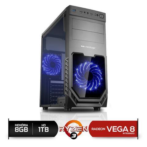 Desktop Neologic Gamer Nli81139 Amd Ryzen 3 2200g 3.50ghz 8gb 1tb Amd Radeon Vega 8 Windows 10 Pro Sem Monitor