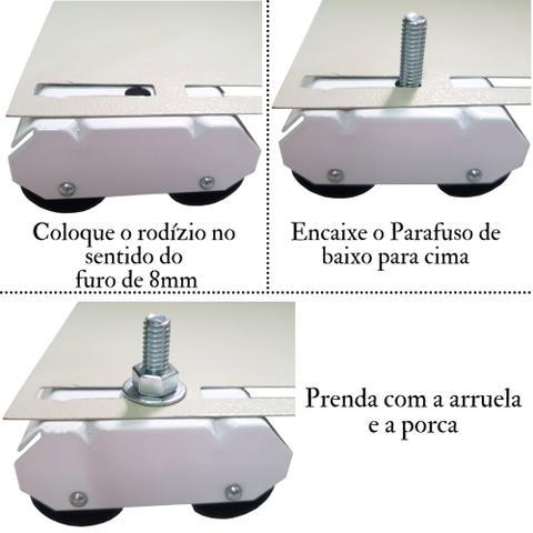 Imagem de Pé De Fogão Brastemp, Electrolux, Consul E Esmaltec C/ Rodas