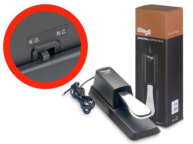 Imagem de Pedal de Sustain Universal Para Teclado - Stagg Susped 10