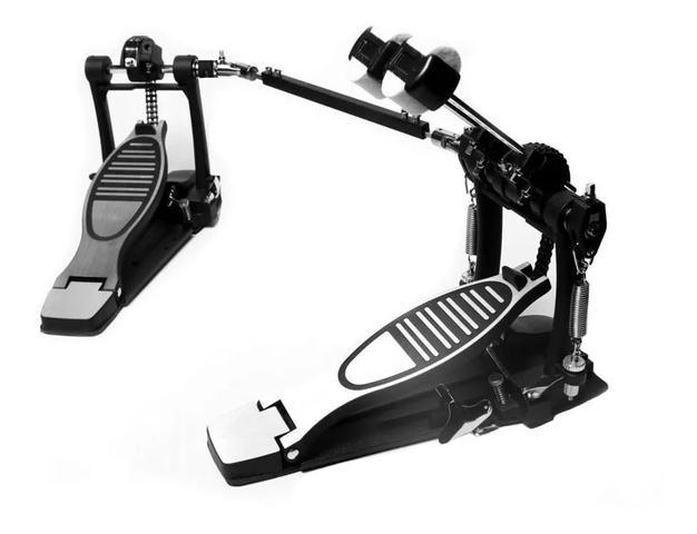 Imagem de Pedal Duplo Bateria Bumbo Mellody P6a Estabilizado 3 Faces